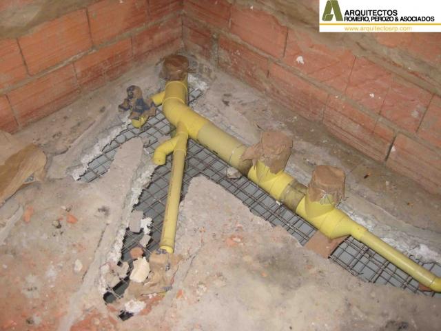 Instalacion Baño En Planta Alta:Instalacion sanitaria en losa existente